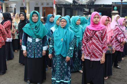 Upacara 17 Agustus di Lapangan Kedungbule Menyambut Hari Ulang Tahun Ke-74 Republik Indonesia