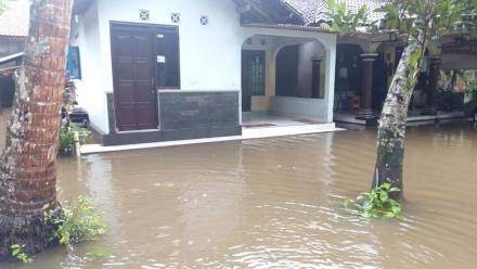 Hujan Deras Dengan Intensitas Tinggi Rendam Beberapa Hlaman Rumah Warga