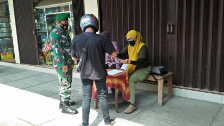 Operasi Yustisi Kecamatan Srandakan Jaring Belasan Pelanggar Masker
