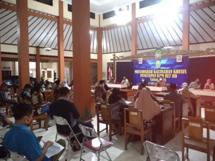 Musyawarah Kalurahan Khusus Trimurti Penetapan KPM BLT