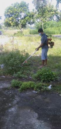 FPRB Trimurti Bangkit Bersihkan Area Shelter Covid-19