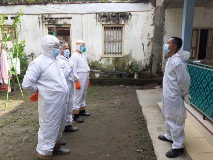 Satgas Dusun Sapuangin Bersama FPRB Trimurti Minimalisasi Penularan Covid 19