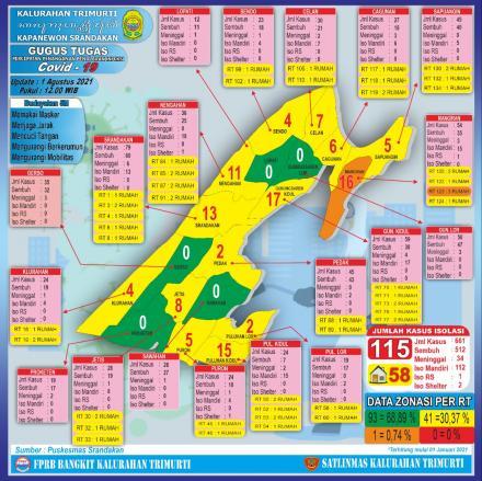 Peta Sebaran Covid 19 Kalurahan Trimurti