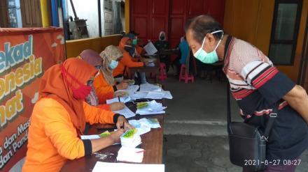 Pelaksanaan Vaksinasi Dosis Pertama Untuk Kelompok Usia Produktif
