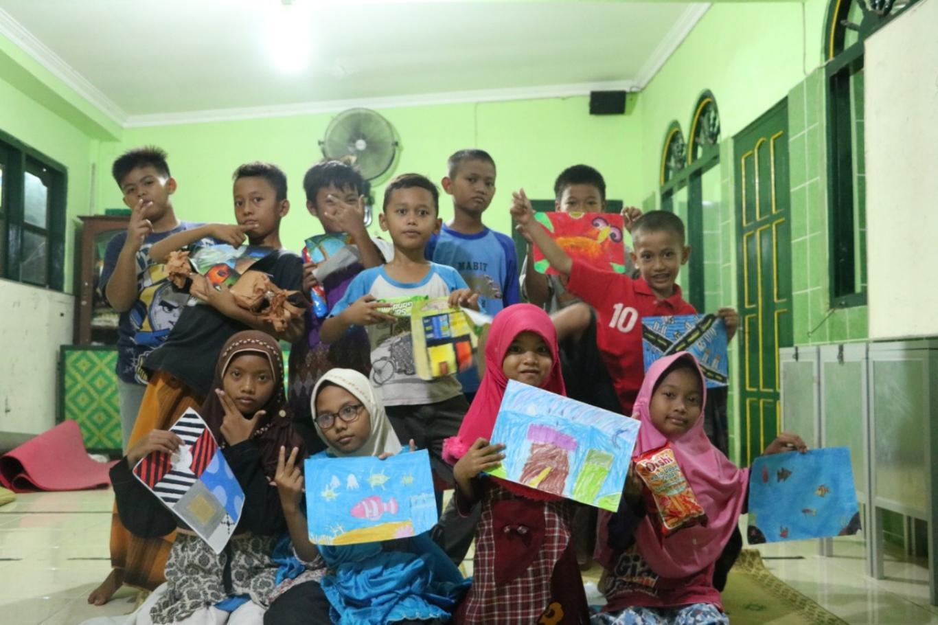 Tim Kkn 80 Umy Adakan Lomba Menggambar Anak Anak Di Masjid Al Hidayah Website Kalurahan Trimurti